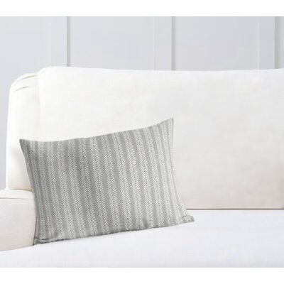 Couturier Striped Lumbar Pillow Color: Grey, Size: 12 H x 16 W