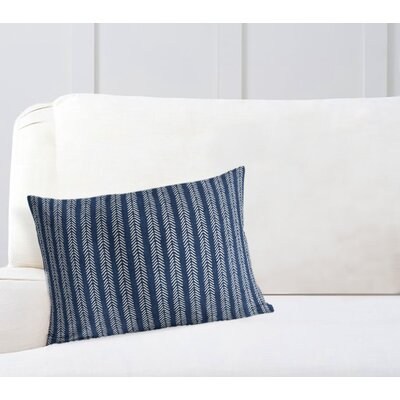 Couturier Striped Lumbar Pillow Color: Indigo, Size: 12 H x 16 W