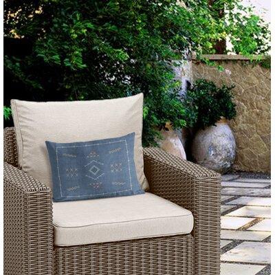 Rogers Outdoor Lumbar Pillow Color: Blue