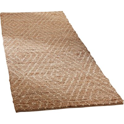 Pace Hand-Woven Natural/Ivory Area Rug Rug Size: Runner 26 x 8