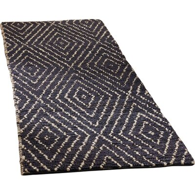 Pace Hand-Woven Black Area Rug Rug Size: Runner 26 x 8