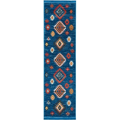 Pittsfield Blue Area Rug Rug Size: Rectangle 22 x 79