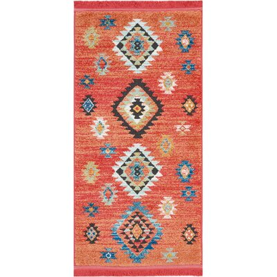 Pittsfield Red Area Rug Rug Size: Rectangle 22 x 43