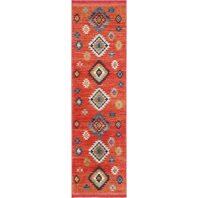 Pittsfield Red Area Rug Rug Size: Rectangle 22 x 79