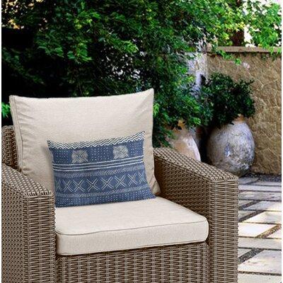 Couturier Rectangular Outdoor Lumbar Pillow Color: Indigo