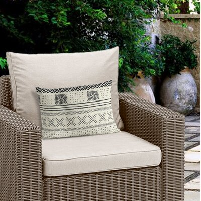 Couturier Rectangular Outdoor Lumbar Pillow Color: Ivory