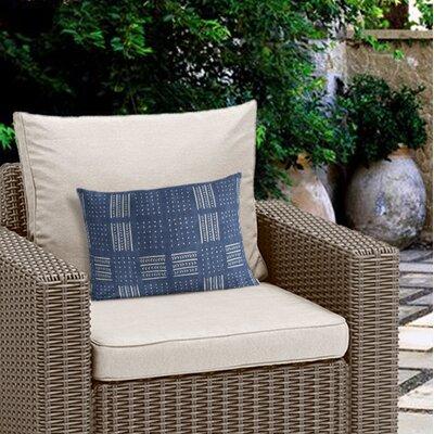 Couturier Outdoor Lumbar Pillow with Zipper Color: Indigo