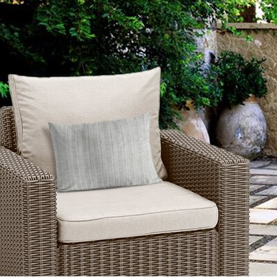 Couturier Geometric Outdoor Lumbar Pillow Color: Grey