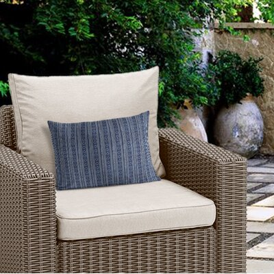 Couturier Geometric Outdoor Lumbar Pillow Color: Indigo