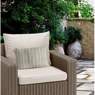Couturier Geometric Outdoor Lumbar Pillow Color: Ivory