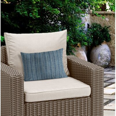 Couturier Geometric Outdoor Lumbar Pillow Color: Teal