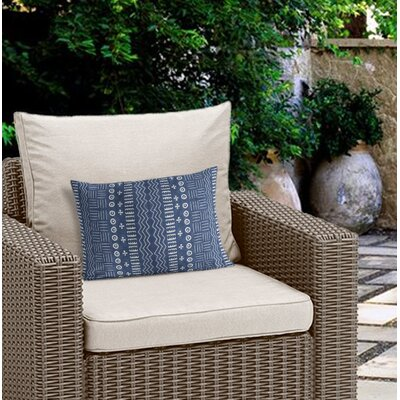 Couturier Modern Outdoor Lumbar Pillow Color: Indigo