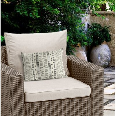Couturier Modern Outdoor Lumbar Pillow Color: Ivory