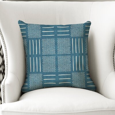 Couturier Square Throw Pillow Color: Teal, Size: 16 H x 16 W