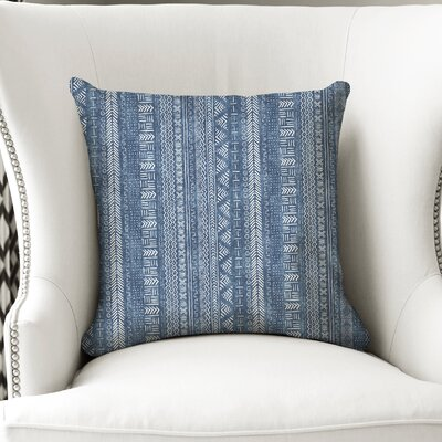Couturier Throw Pillow with Zipper Color: Indigo, Size: 18 H x 18 W
