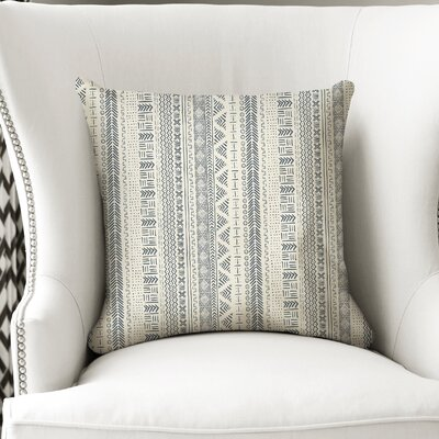 Couturier Throw Pillow with Zipper Color: Ivory, Size: 16 H x 16 W