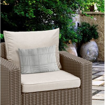Couturier Rustic Outdoor Lumbar Pillow Color: Grey