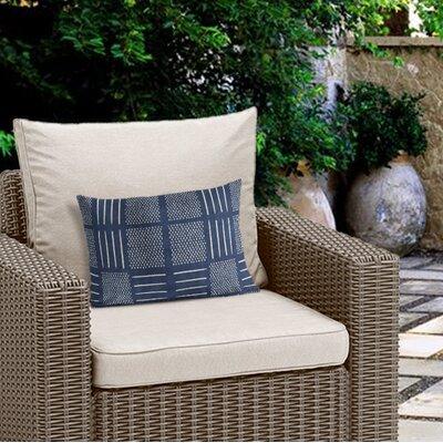 Couturier Rustic Outdoor Lumbar Pillow Color: Indigo