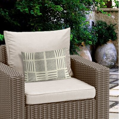 Couturier Rustic Outdoor Lumbar Pillow Color: Ivory