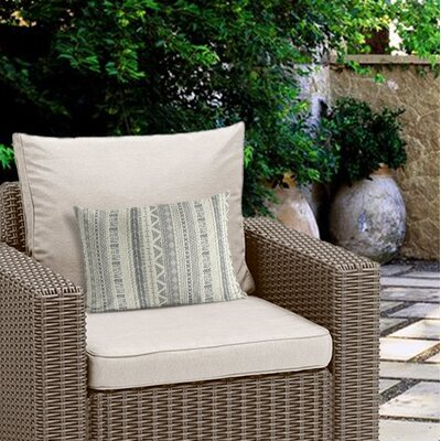 Couturier Modern Outdoor Lumbar Pillow with Zipper Color: Ivory