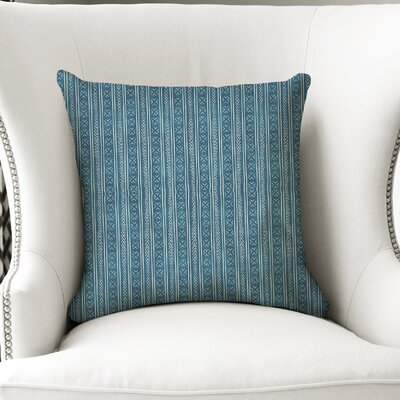 Couturier Square Throw Pillow with Zipper Color: Teal, Size: 16 H x 16 W