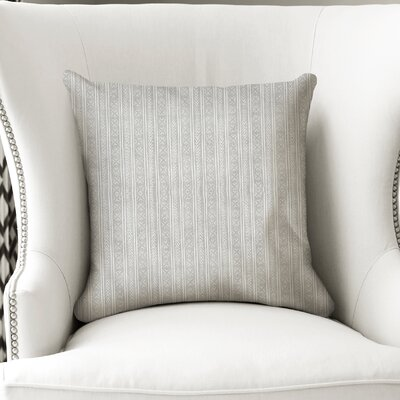 Couturier Square Throw Pillow with Zipper Color: Grey, Size: 18 H x 18 W