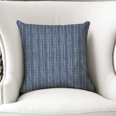 Couturier Square Throw Pillow with Zipper Color: Indigo, Size: 18 H x 18 W