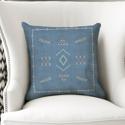 Rogers Accent Throw Pillow Color: Blue, Size: 16 x 16
