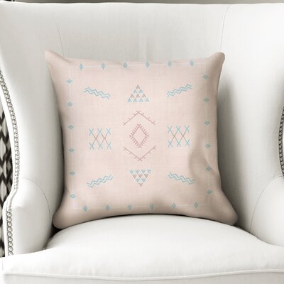 Rogers Accent Throw Pillow Color: Peach, Size: 18 x 18