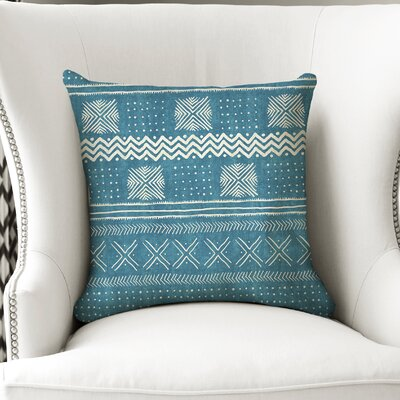 Couturier Throw Pillow Color: Teal, Size: 18 H x 18 W