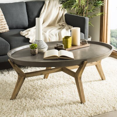 Leontine Concrete Oval Coffee Table