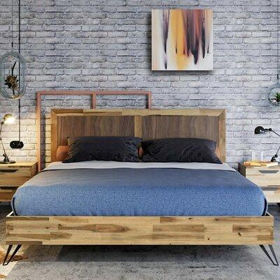 Rashida Light Wood Bed Size: Queen