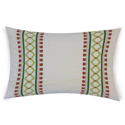 Kinser Geometric Down Filled 100% Cotton Lumbar Pillow Color: Rhubarb