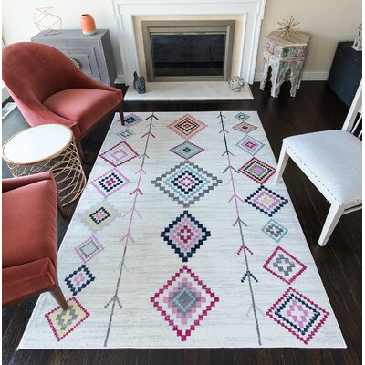 Leppert Tribal Gray Area Rug Rug Size: 53 x 7