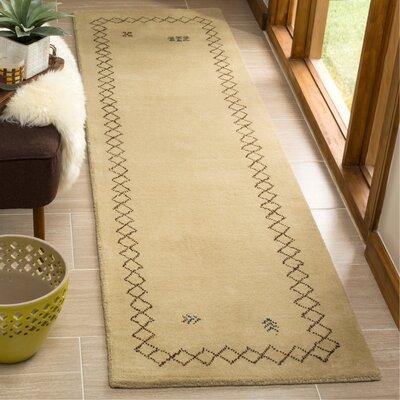 Coraima Hand-Loomed Wool Beige Area Rug Rug Size: Runner 28 x 8