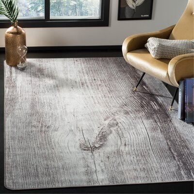 Camila Power Loom Gray Area Rug Rug Size: Rectangle 51 x 76