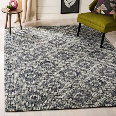 Tolland Hand-Tufted Wool Gray Area Rug Rug Size: Rectangle 6 x 9