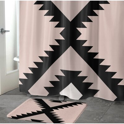 Levering Memory Foam Bath Rug Size: 24 W x 36 L, Color: Black/Gray