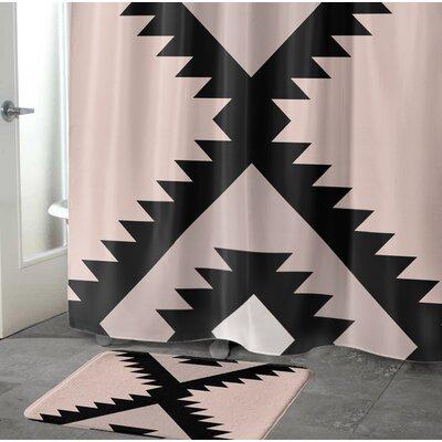 Levering Memory Foam Bath Rug Size: 17 W x 24 L, Color: Black/Tan