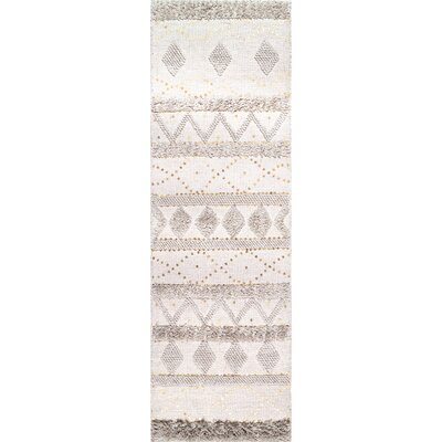 Lynch Hand Tufted Wool Ivory Area Rug Rug Size: Runner 26 x 8