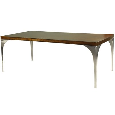 Neema Wood Top Dining Table Top Finish: Nantucket, Size: 29.5 H x 42 W x 96 D