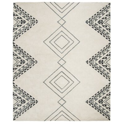 Powell Hand-Tufted Ivory Area Rug Rug Size: Rectangle 8 x 10