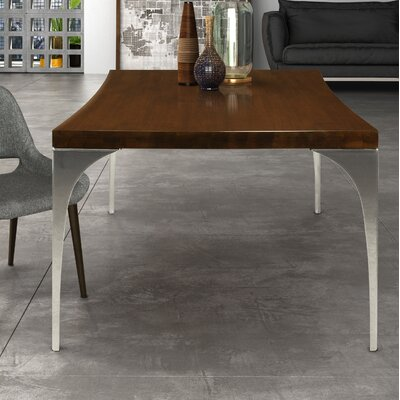 Marzano Dining Table Base Color: Shadow, Size: 42 W x 80 L