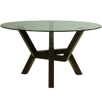 Kaira Dining Table Base Finish: Chocolate, Size: 29 H x 54 W x 54 D