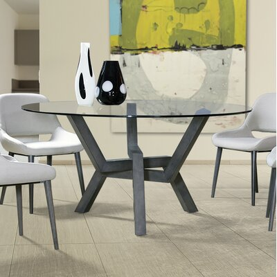 Kaira Dining Table Base Finish: Walnut, Size: 29 H x 54 W x 54 D