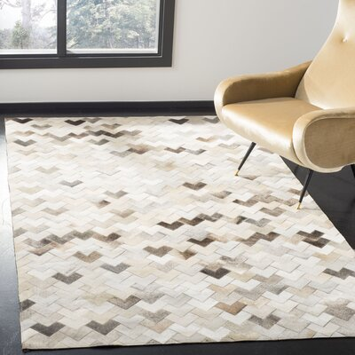 Stasia Hand-Woven Gray Area Rug Rug Size: Rectangle 4 x 6