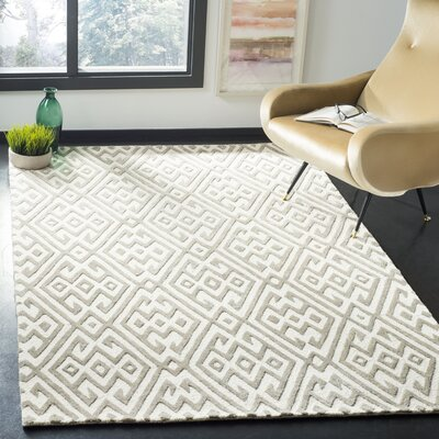 Sloan Hand-Tufted Wool Ivory Area Rug Rug Size: Rectangle 3 x 5