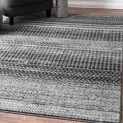 Patel Dark Gray Area Rug Rug Size: Rectangle 4 x 6