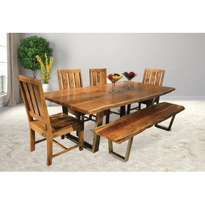 Jozereau Live Edge 6 Piece Dining Set