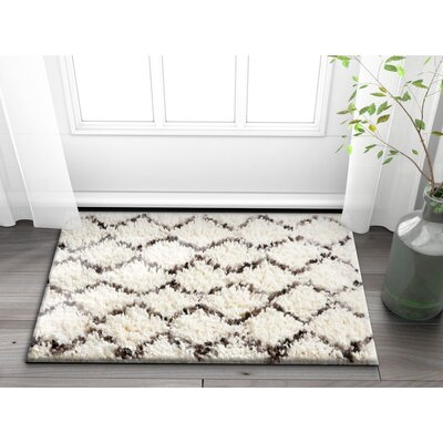 Olszewski Dark Gray/Beige Area Rug Rug Size: Rectangle 2 x 3
